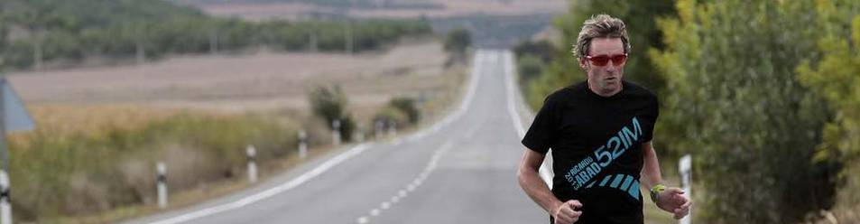 Ricardo Abad, corriendo por Tafalla