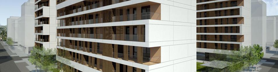 Maqueta de uno de los edificios