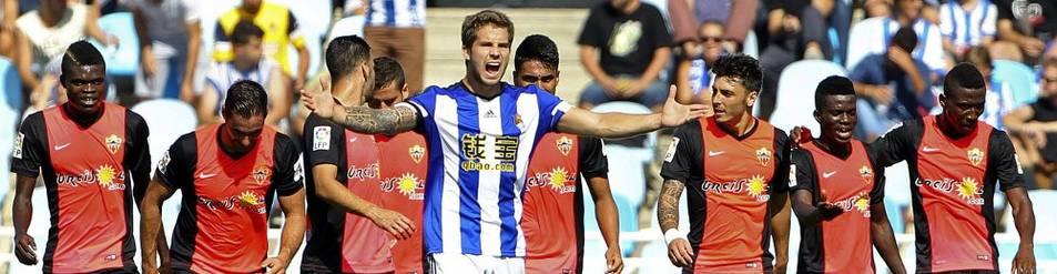 Íñigo Martínez se lamenta tras el primer gol del Almería