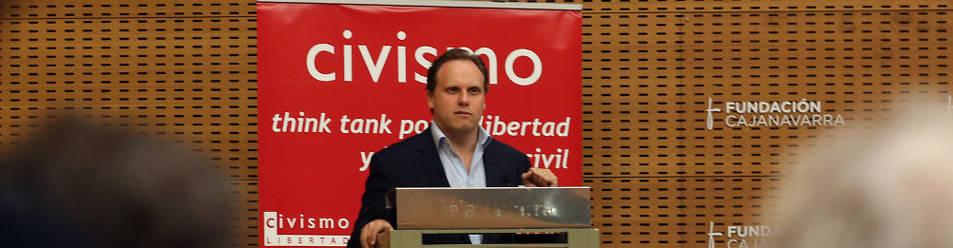 Daniel Lacalle protagonizó la última conferencia organizada por el laboratorio de ideas Civismo en Pamplona.