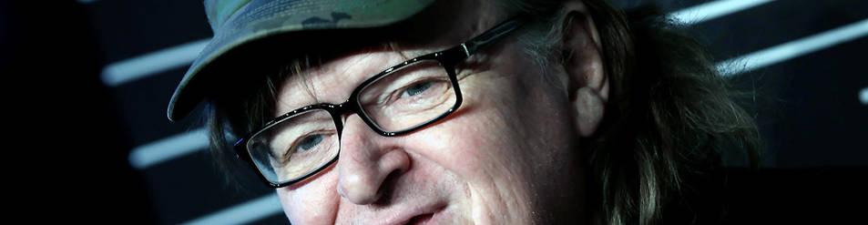 Michael Moore, en Manhattan.