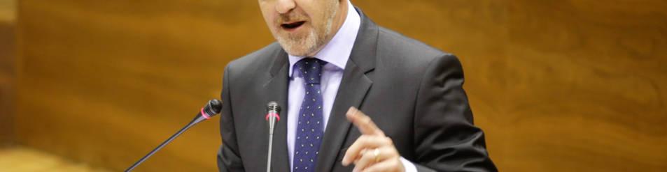 Javier Esparza, durante el debate del estado de la Comunidad.