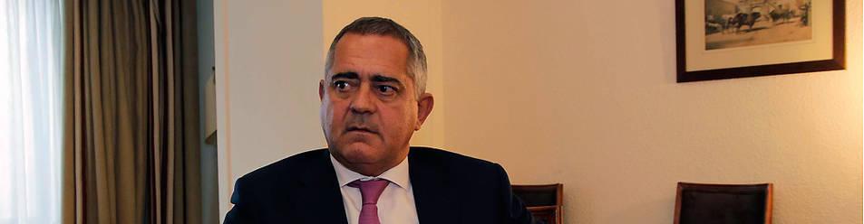 Juan Miguel Sucunza, presidente de Azkoyen y Premio Empresario Navarra 2016, en un momento de la entrevista.