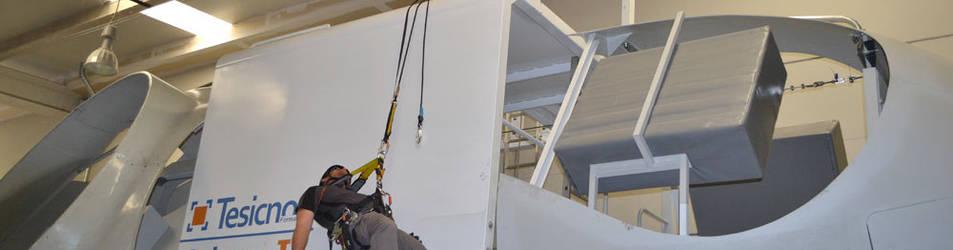 foto de una formación en prevención de riesgos laborales en la empresa Tesicnor en el polígono Mocholí.