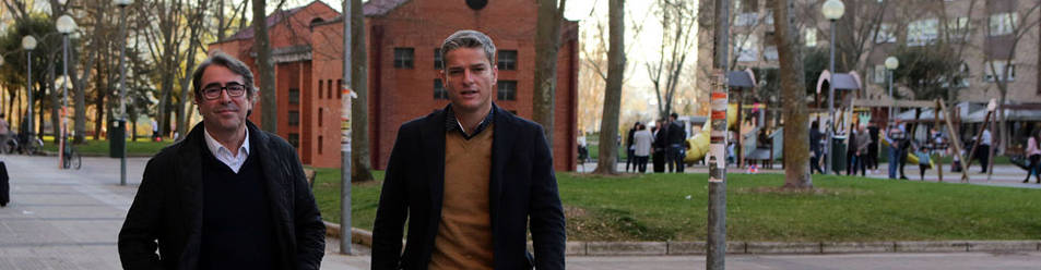 Jorge Pérez (izda), candidato a la presidencia de la RFEF, acompañado por Luis Gil, las dos cabezas visibles de la candidatura.