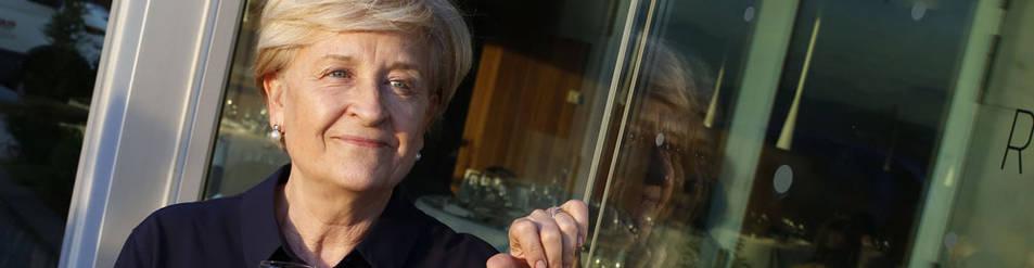 Inma Puig en el restaurante del Museo Universidad d e Navarra, donde presentó su libro.