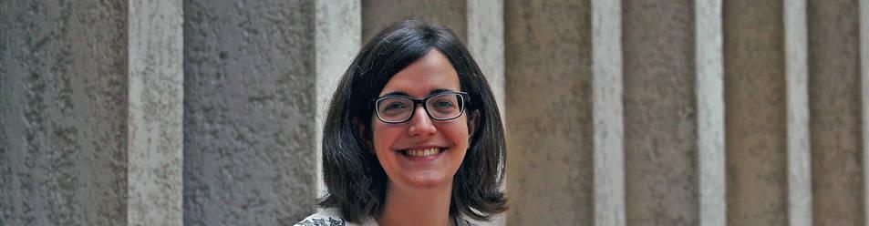 Ángela Bernardo, de 28 años, es licenciada en Biotecnología y redactora en 'Hipertextual', una web de ciencia, tecnología y cultura. Ayer, en el Palacio de Condestable, donde participó en un curso de verano.