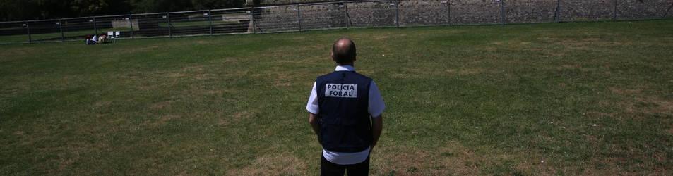 El subinspector de Policía Foral se encontraba aquí viendo los fuegos con su familia cuando redujo al ciudadano argelino.