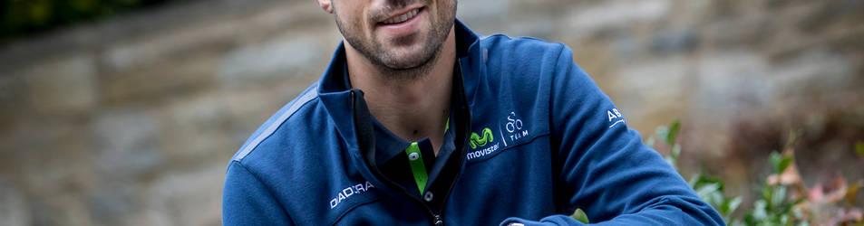 Imanol Erviti, ayer en la concentración del equipo.