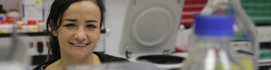 Maite Huarte, en el laboratorio de ARN largos no codificantes del CIMA.