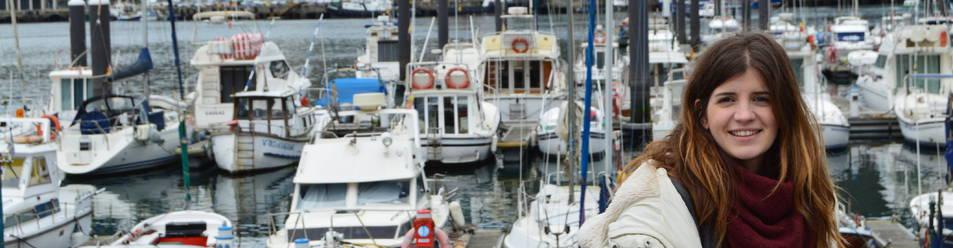 La portera navarra del Bera Bera, Maite Zugarrondo, en el puerto de Pasajes de San Juan, ha vuelto a competir tras superar una pericarditis (patología cardiaca).