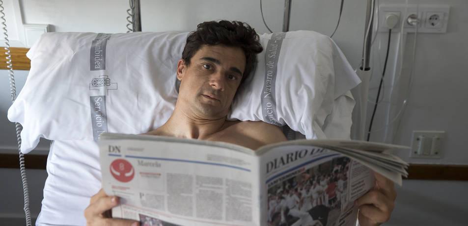 Paco Ureña, este domingo en la habitación de Virgen del Camino.