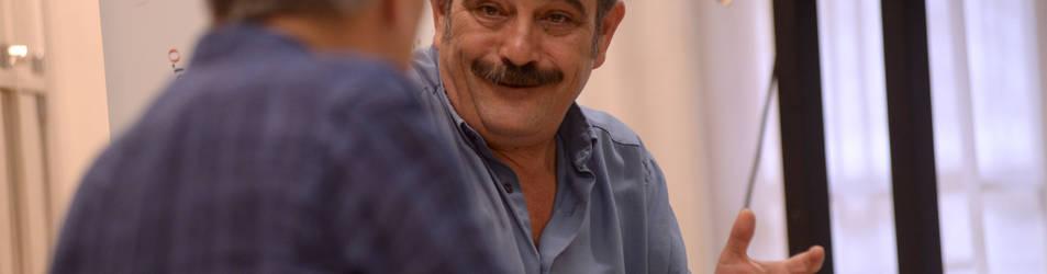 Rafael Reig en el club de lectura de Diario de Navarra