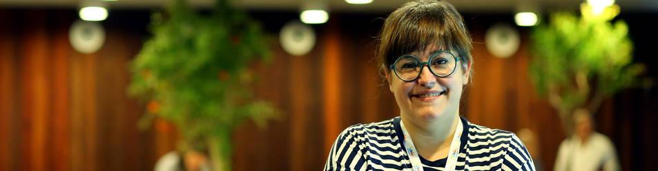 Foto de María García Castrillón, en el Baluarte, donde ha participado en Conecta Fiction.
