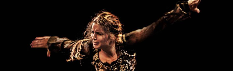 Paloma Fantova, durante una actuación.