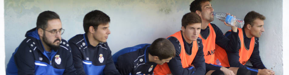 El entrenador de la Peña Sport, Sergio Campos, se sentó en el banquillo del equipo de Tafalla el domingo por primera vez.