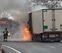 Cortada la A-15 en Pagozelai por un camión ardiendo