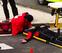Atropellado un ciclista en la rotonda de la calle Tajonar