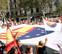 Unas 65.000 personas se manifiestan en Barcelona para conmemorar el 12-O