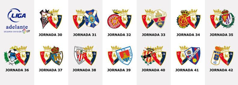 Los 13 partidos de Osasuna