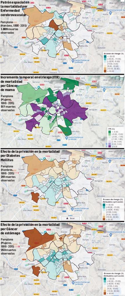 Los barrios más pobres de Pamplona son también los de más mortalidad