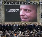 Las gaitas despiden a Fraga tras un funeral que congregó a la cúpula del PP