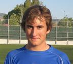 Imanol Echeverría, juvenil del Valle de Egüés, debutó en Tercera