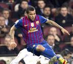 Alves, de 6 a 8 semanas de baja, se pierde la final de Copa del Rey