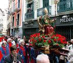 La procesión de San Saturnino quedó aguada por la lluvia