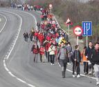 Miles de peregrinos hacia Javier este fin de semana