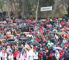Sol, lluvia, multitudes y 8 traslados en la Javierada