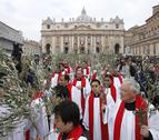 El Papa inicia la Semana Santa con la procesión de las Palmas
