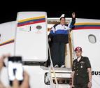 Hugo Chávez regresa a su país tras recibir radioterapia en Cuba
