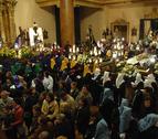 Unas gotas en la procesión de Tafalla que no frenaron el paso procesional