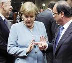 La tensión entre Merkel y Hollande por los eurobonos altera la cumbre
