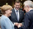 Merkel, Hollande, Monti y Rajoy se reunirán el 22 de junio en Roma