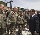Hollande visita por sorpresa a las tropas de Afganistán
