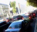Nuevo atasco en el centro de Pamplona en hora punta por un fallo en los semáforos