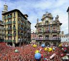 Pamplona se empapa de fiesta