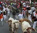 Segundo encierro con los toros de Celestino Cuadri