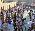 Los toros de Millares, protagonistas del quinto encierro en Tudela