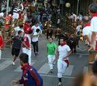 Rápido y limpio sexto encierro de fiestas de Tudela