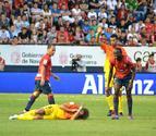 Puyol sufre una rotura de pómulo a causa de un choque con Lamah