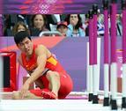 El vallista chino Liu llegó lesionado a los Juegos Olímpicos de Londres