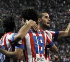 Diego Costa dirige el triunfo de un Atlético a medio gas
