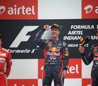 Vettel gana el Gran Premio de la India y Alonso queda segundo