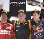 Victoria de Raikkonen por delante de Alonso y Vettel