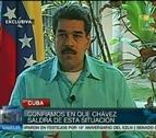 Chávez le apretó la mano a Maduro con una