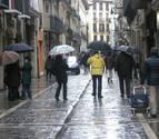 Temporal de lluvia en Navarra entre la tarde del martes y el jueves