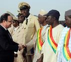 Hollande llega a Mali tras la intervención militar francesa